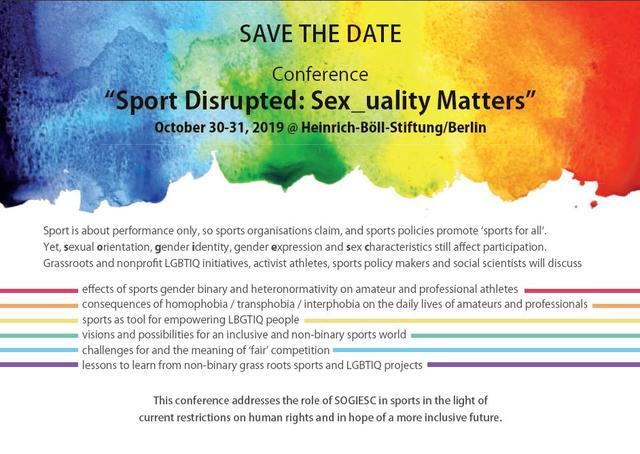 "Zum Event ""Sport Disrupted: Sex_uality Matters"""