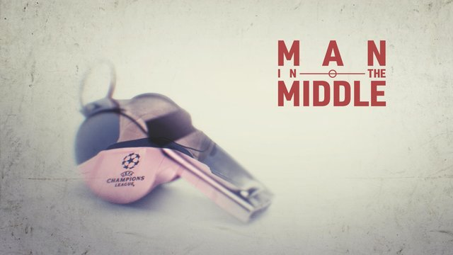 "Plakat der UEFA.tv-Serie ""Man in the Middle"""